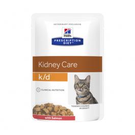 Hills Prescription Diet Feline K D Salmon Pouches 12 X 85g